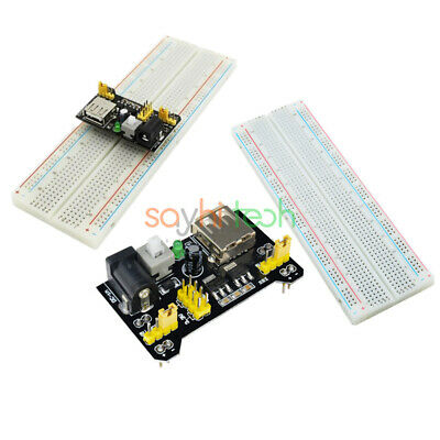 Diy Solderless Mb102 Power Supply Boardpcb 830 Breadboard Tie Point For Arduino