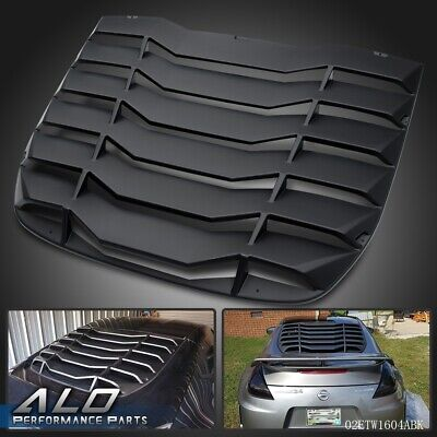 For 2009-2019 NISSAN 370Z 3.7L Matte Black Rear Windshiled Louvers Cover Black