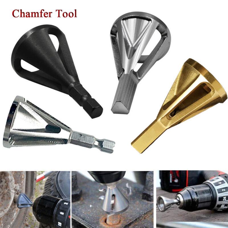 Stainless Steel Heliburr Deburring External Chamfer Tool for Drill Bit Hot US