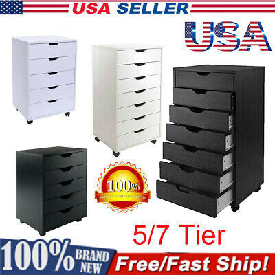 57 Tier Drawer Rolling Filing Cabinets Office Holder Document Storage Organizer