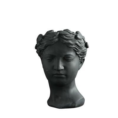 Roman Goddess Sculpture Plant Pot Concrete Decorative Planter Display Classical