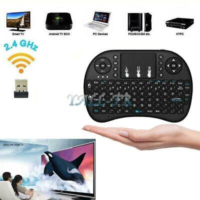 1x 2.4Ghz Mini Wireless Keyboard Remote Controls Touchpad for Projector PC Black