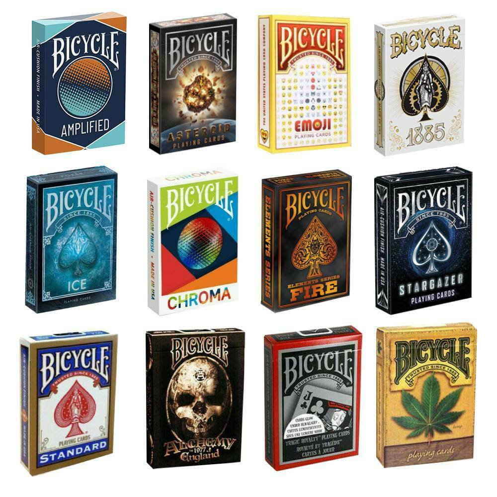 BICYCLE PLAYING CARDS DECKS MAGIC TRICKS POKER HIGH QUALITY