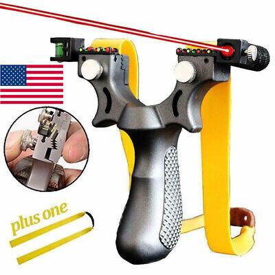 US Hunting Slingshot Catapult High Velocity Laser Sight Twin Stonework Catapult