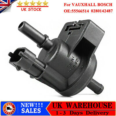 1x FOR VAUXHALL BOSCH PETROL EVAPORATION CONTROL PURGE SOLENOID VALVE 55566514