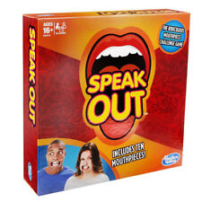 Hasbro Speak Out board Game For 4 To 5 Players Includes 10 Mouthpieces