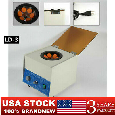 New Ld-3 Electric Benchtop Centrifuge Lab Medical Practice 650ml 4000rpm Usa