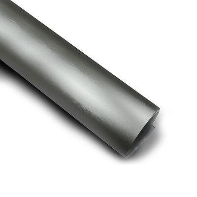Titangrau Matt Chrom metallic gebürstet Auto Folie 100cm x 152cm Luftkanäle