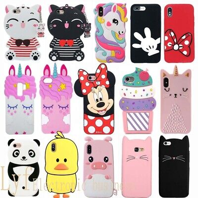 Handy Hülle 3D Tier Einhorn Silikon Schutz Tasche Case Weich Cover iPhone Xiaomi Tier Handy Cover