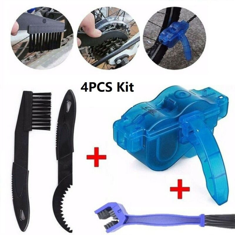 Bicycle Chain Cleaner Scrubber Brushes Cycling MTB Road Bike Cleaning Tool Kit