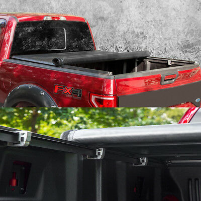 Lock & Soft Roll Up Tonneau Cover For 2004-2014 Ford F-150 With 6.5