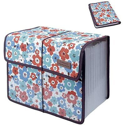 Oak-pine Cute Portable Expandable Accordion 13 Pockets A4 File Folder Oxford Bag