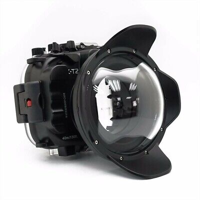 Seafrogs 40m/130ft Underwater Camera Housing Case For Fujifilm X-T2 w/Dome Port