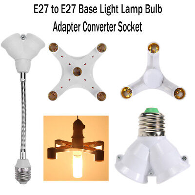 - Universal E27 to E27 Lamp Socket Splitter Adapter Light Bulb Base Stand Holder