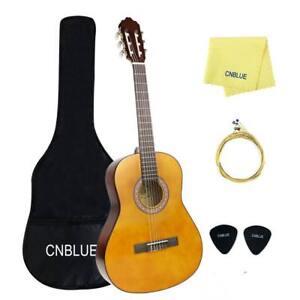 NEW Full Size 4/4 Classical Acoustic Guitar for Beginner Starter Kits Kid Small Nylon Strings