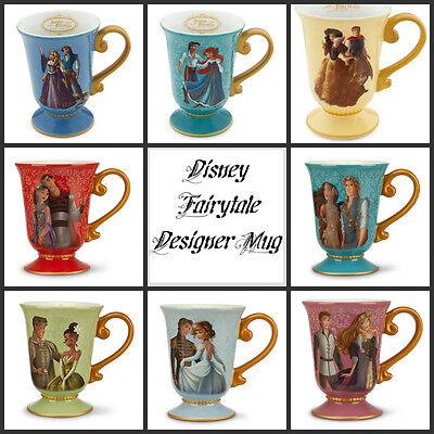 Disney Designer Fairytale Couple Mug Ariel Snow Poca Rapunzel Aurora Cindy Mulan