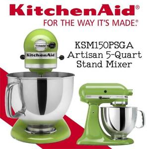 NEW KitchenAid KSM150PSGA Artisan 5-Quart Stand Mixer, Green Apple Condtion: New, Stand Mixer Only, Green Apple