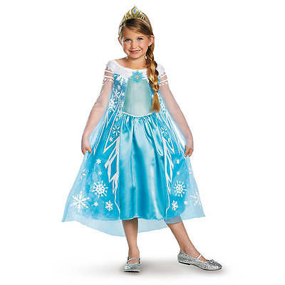 Disney Princess Frozen Elsa Costume Dress Girls Size XS 3T-4T Play Dress Up NWT ()