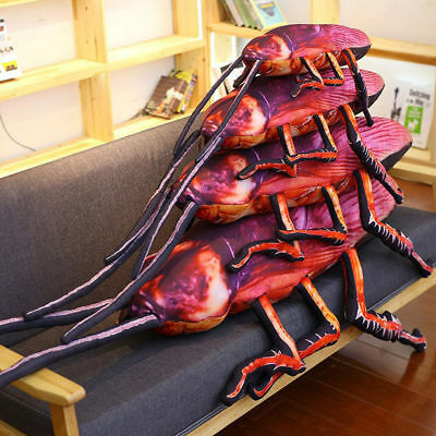 Giant 3D Insect Cockroach Pillow Stuffed Plush Kids Toy Home Sofa Pillow Cushion - Giant Cockroach