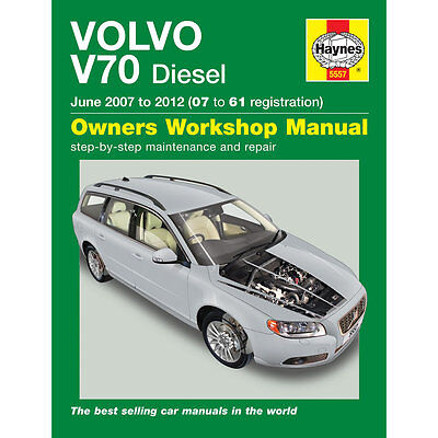 Volvo V70 2007-2012 (07-61 Reg) Haynes Workshop Manual