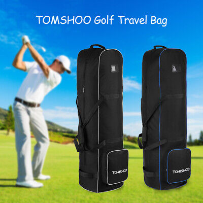 Cushioned Travel Bag - Golf Club Padded Travel Bag Flight Cover Case with Wheels gy -US