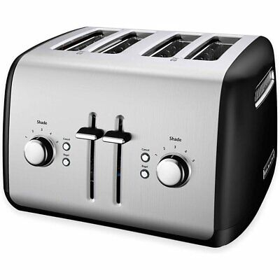 KitchenAid RKMT4115OB Toaster with Manual High-Lift Lever, Onyx Black