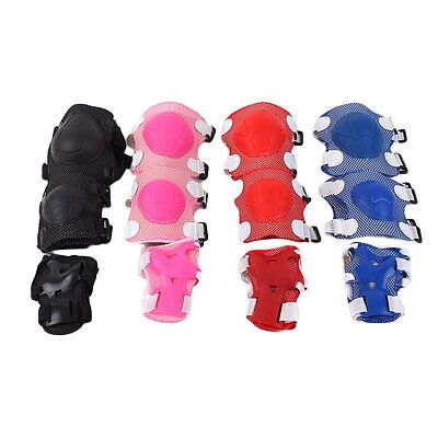 Kids New Knee Elbow Protective Pads Wrist Guard Gear For Roller Skating Sports