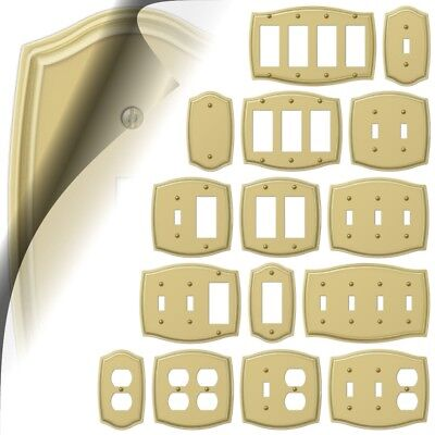 Sonoma Polished Brass Switch Plate Toggle Rocker Wallplate Cover Rocker Duplex