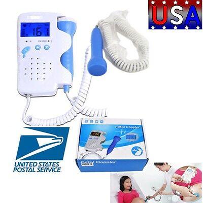 Fda Fetal Doppler Baby Heart Rate Lcd Monitor 3mhz Backlight Display Us Best