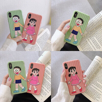 Cartoon Couple Shock Soft Slim Phone Case Cover For iPhoneX 6s 7 8Plus XR XsMax](Cartoon Couples)