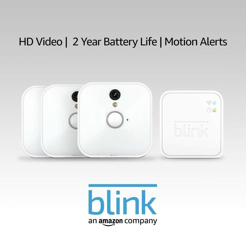 Blink Smart Home HD Monitor Alert System 100 Wire Free 3 Cam