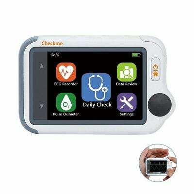 Handheld Ecg Monitor With Pc Software Usb Rechargeable Heart Health Tracker