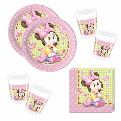 eschirr Baby Mouse | Minnie Maus | Teller Becher Servietten (Minnie Mouse Servietten)