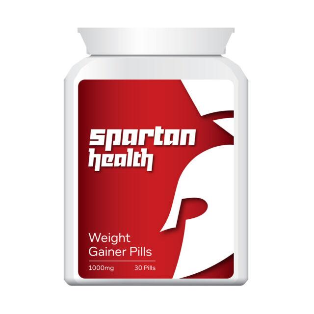 SPARTAN HEALTH WEIGHT GAINER PILLS – IMPROVE APPETITE BULKING PILL GAIN SIZE