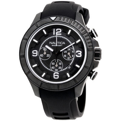 Nautica NST 450 Black Dial Silicone Strap Men's Watch NAD19529G