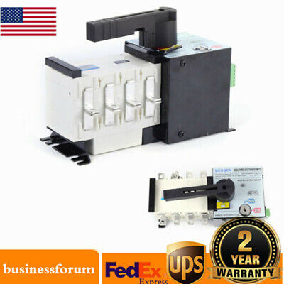 Automatic Transfer Switch 4p 100a Dual Power For Generator Changeover Switch Usa