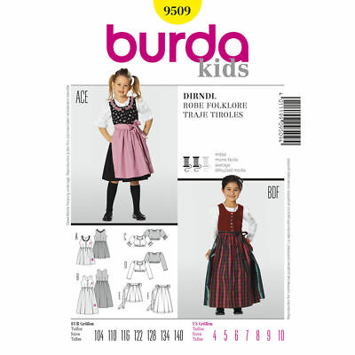 Heidi Costume Child (Burda 9509 Sewing Pattern DIRNDL Child Oktoberfest German Heidi Movie)