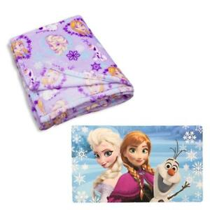 Disney Frozen Elsa Anna Ultra Soft Classic Designed Kids Super Luxurious Blanket and Matt - 60 x 80 inch