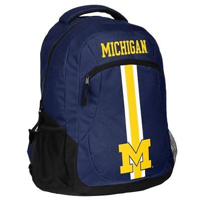 Michigan Wolverines Logo Action BackPack School Bag Back pack Gym Sports Book ()