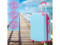 "SALE! 24"" Blue&Rose Hard Shell Polypropylene Lightweight Suitcase Luggage Medium Suitcase DELIVERY"