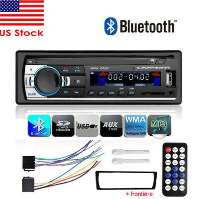 Car Bluetooth Stereo Radio FM In Dash Handsfree TF/USB AUX 12V Head Unit 1 DIN