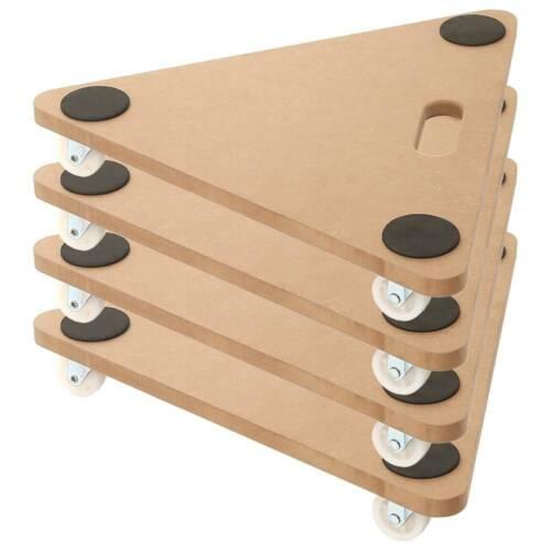 4 Pack 20 inch Dolly Moving Cart Platform 350LB Tringular Wood Mover Platforms