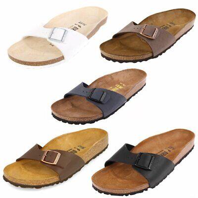 Birkenstock Madrid Schuhe Sandalen Pantoletten Birko-Flor Klassische Farben