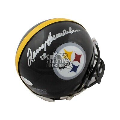 c26f1bd98 Terry Bradshaw Autographed Pittsburgh Steelers Mini Football Helmet - JSA  COA