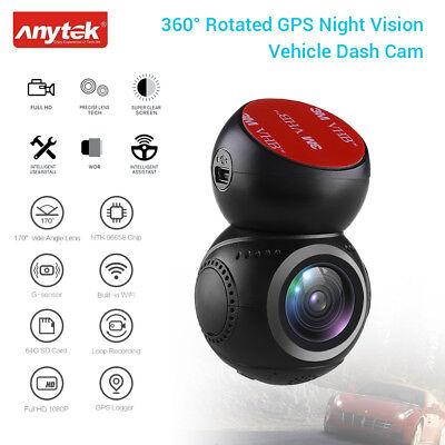Dvr 30fps (Anytek G21 360 ° drehte HD 1080P @ 30fps NTK96658 Wifi GPS-Fahrzeugkamera DVR)