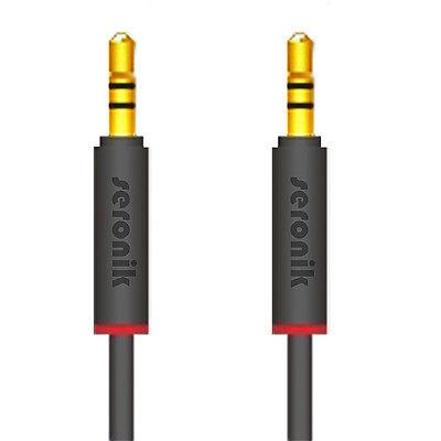1m AUX Kabel 3,5mm Klinke Klinken Stecker für Auto iPhone MP3 Handy PC TV Stereo - Klinke, Klinken