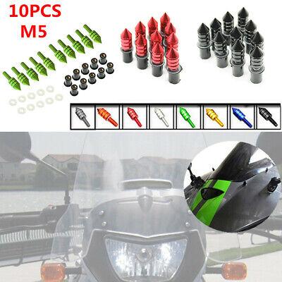 10PCS M5 CNC Motorcycle Fairing Windscreen Windshield Spike Bolts Fixing Washers