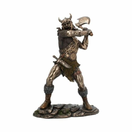 NEW+Berserker+Viking+Warrior+Figurine+Statue+with+axe+Nemesis+H4020+28cm
