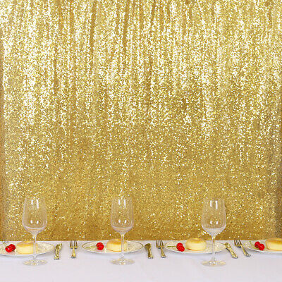 Gold Sequin Backdrop Curtain Photography Background Wedding Birthday Party - Curtain Background