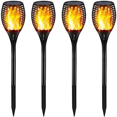 Best Solar Lights Outdoor Tiki Torch Flame Night Patio Walkway Pathway Flicker Best Solar Walkway Light